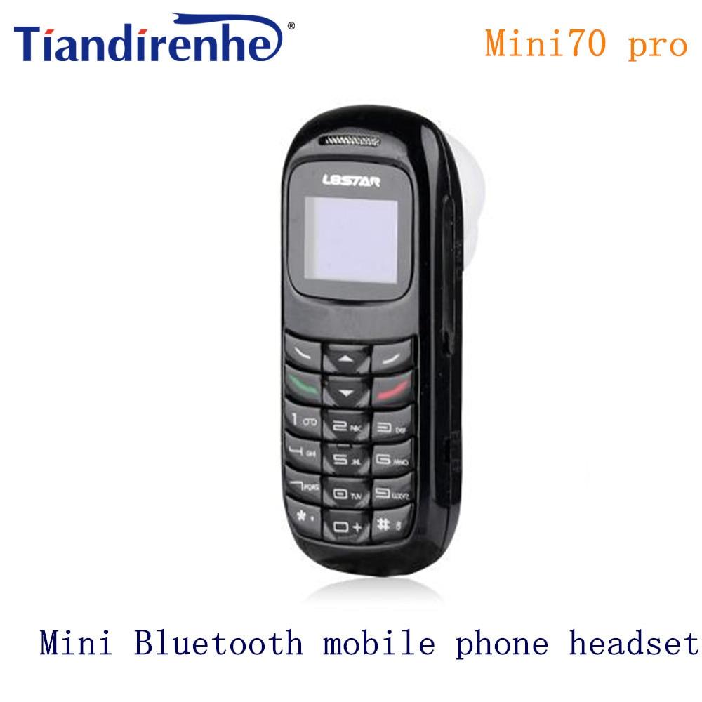 New GTSTAR mini70 pro Mini Bluetooth Earphone Phone Dialer Stereo Wireless Headphone Pocket Support SIM Card Dial Call pk bm50