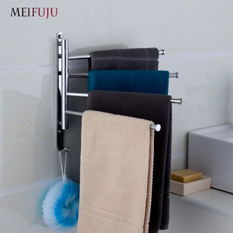 Towel Bar Rotating Towel Rack Bathroom Kitcholished Chrome Rack Holder 3-4 layer Activities Hardware Accessories folding Towel custom any size mural wallpaper 3d stereoscopic universe star living room tv bar ktv backdrop bedroom 3d photo wallpaper roll
