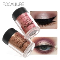 Focallure 12pcs/lot Diamond Glitter Eyeshadow Loose Pigments 18 Colors Easy to wear Metallic 3D Nude Eye Shadow Makeup Powder