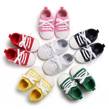 Newborn Canvas Sports Sneakers Baby First Walkers Soft Sole Anti-slip Baby Shoes Toddler Classic Infant Soft Sole Knotted(China)