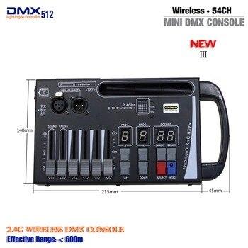 มือถือ MINI DMX ไร้สาย Controller สำหรับ Home KTV DJ Stage แสงใช้แบตเตอรี่ 9V ย้ายเวทีแสงคอนโซล