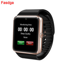 Wearable Device Smart Watch Silver Gold Color GT08 Android Wear Clock Bluetooth Pedometer Smartwatch With Camera For Men Women