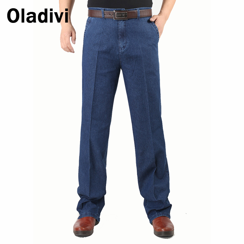 Plus Size 42/40/38 2015 Fashion Designer Brand Men Jeans Man Classic Cotton Denim Pants Male Casual high Waist Stright Trousers xmy3dwx n ew blue jeans men straight denim jeans trousers plus size 28 38 high quality cotton brand male leisure jean pants