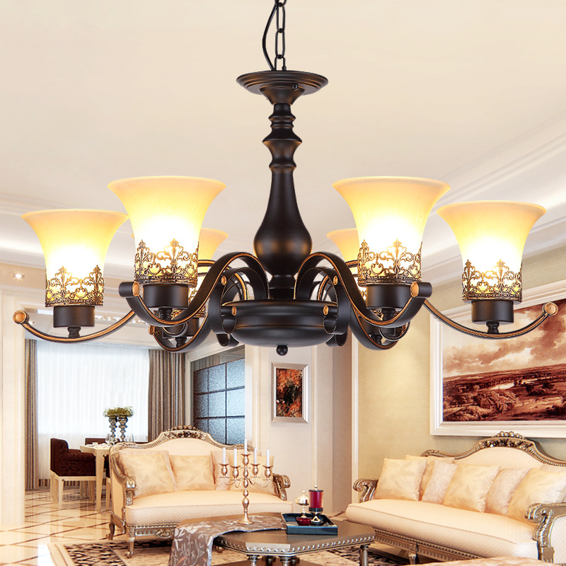 direct iron American style chandeliers applicable to the home dining room can be adjusted for American chandeliers