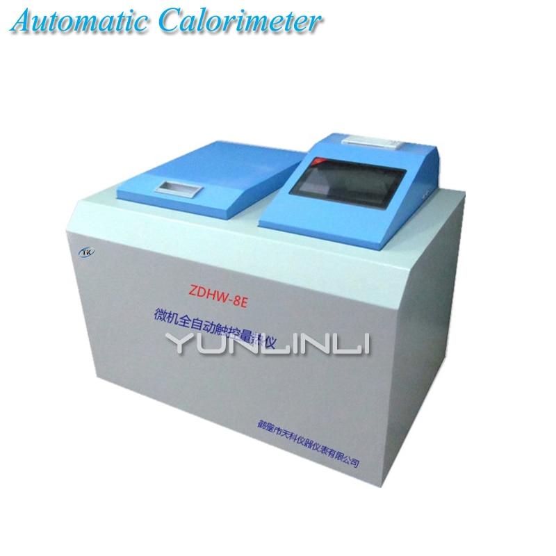 Автоматическая калориметра 220 В 50 Гц калориметра Тесты инструмент для ккал угля теплотворной машины угля, метанола топлива ZDHW 8E