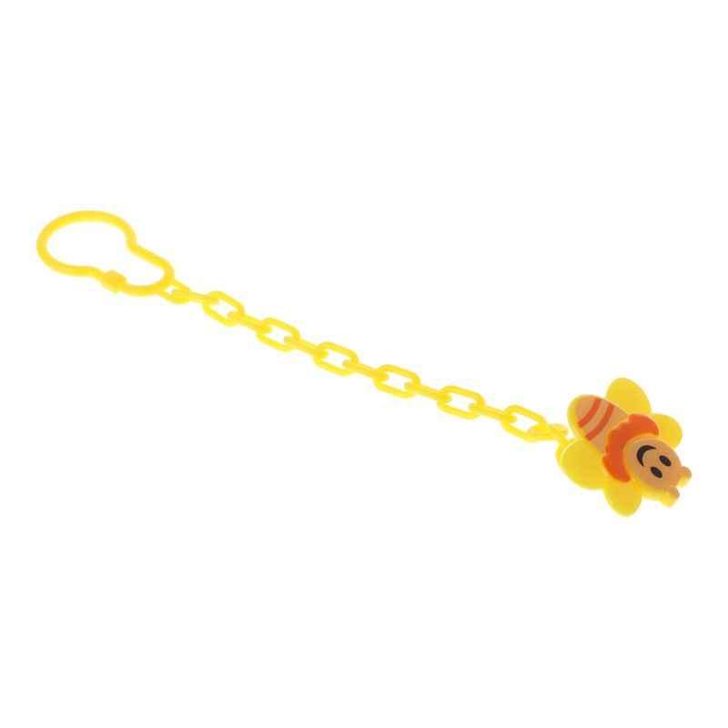 Dziecko smoczek klip Cartoon pszczoła śliczne łańcuch brodawki uchwyt ząbkowanie opieki noworodka smoczek gryzak klipy hak manekina przenośne materiały