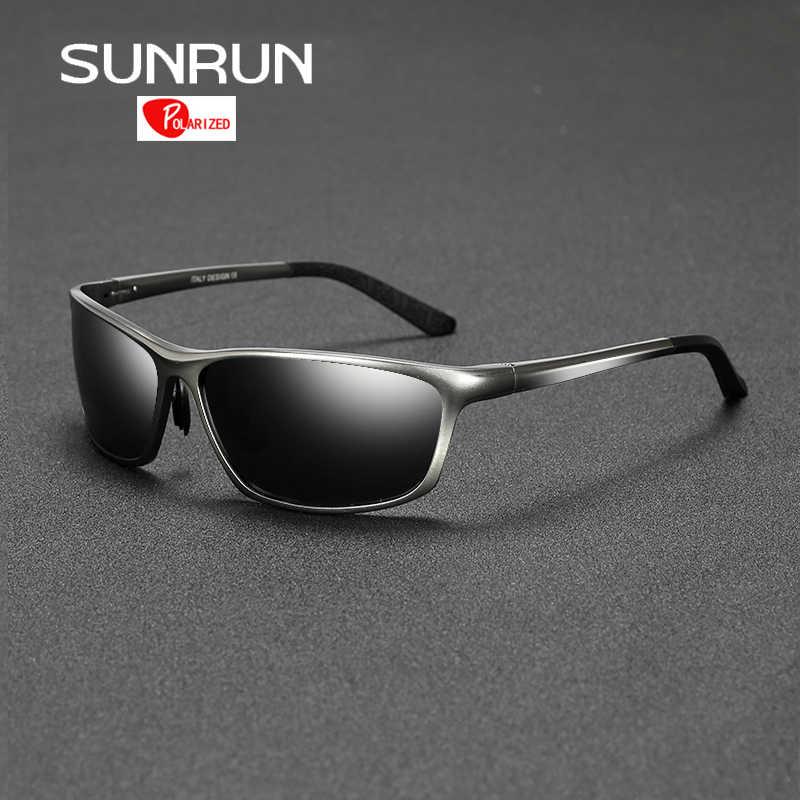 3c3f6b899bc31 Detail Feedback Questions sobre SUNRUN Eyewears óculos de Sol Óculos  Polarizados Óculos De Sol Dos Homens de Condução Óculos de Proteção de  Alumínio para o ...