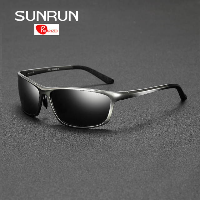 17d24c0253b SUNRUN Polarized Sunglasses Men Driving Goggle Aluminum Eyewears Sun Glasses  for Man lentes de sol hombre