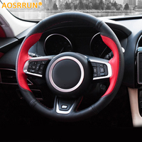 Car Accessories Leather Hand Stitched Car Steering Wheel Cover Car Styling For Jaguar F Pace X761