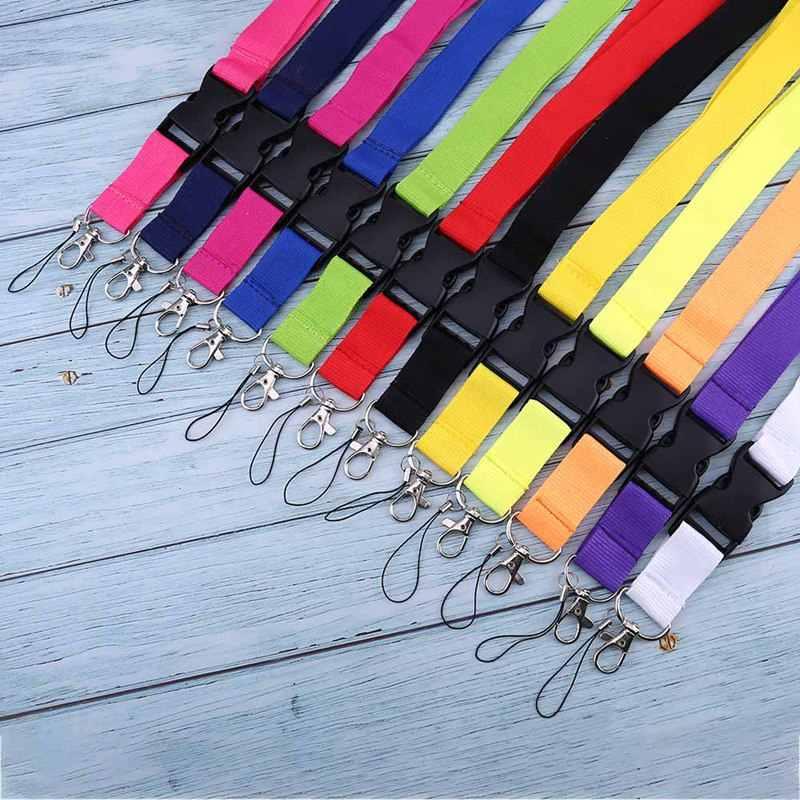 Correas de cuello de teléfono móvil coloridas en blanco llaveros Lanyard Badge portadores de identificación