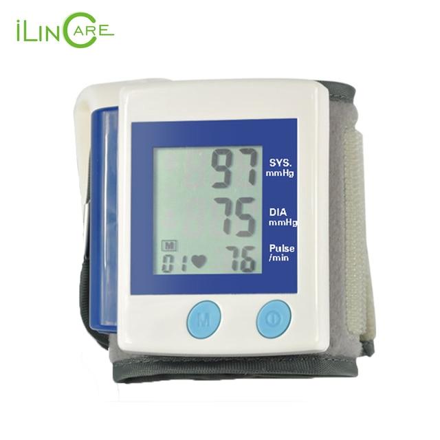 Intelligent Automatic Wrist digital LCD blood pressure monitor portable Tonometer Meter blood pressure meter oximetro de dedo