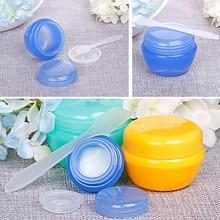5pcs colorful cream jar empty plastic cosmetic container transparent small sample mushroom shaped sub-bottle