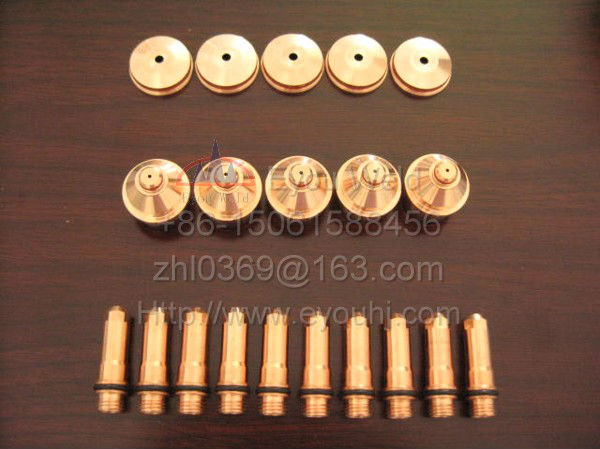 45 pcs 220187 220188 220189 Consumables For 80A Plasma Cutting Torch 400XD 260 260XD 130 130XD