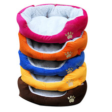 New Cute Comfortable Soft Cotton Footprints Design Style Pet Nest Dog Bed Cat Bed Waterloo pet