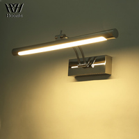Free shipping 7W LED Mirror Light 40CM Fashion Style Bathroom Wall Light 220V LED Wall Lamp Stainless Steel Material