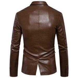 Image 3 - Marca Moto Giacche In Pelle Da Uomo Inverno Primavera Giacche di Pelle Abbigliamento Maschile di Business In Pelle Casuale Uomini Giacca Cappotti 5XL