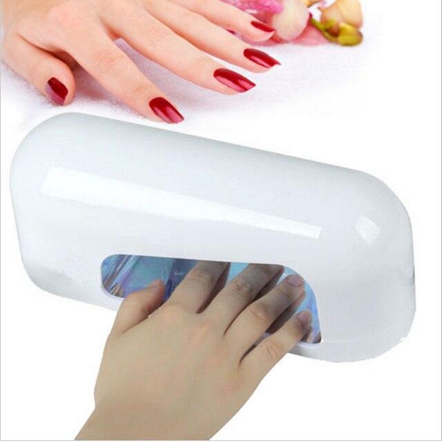 UV Nail Gel Lamp 9W 110V 220V Nail Polish Dryer UV Lamp For Curing Nails Arts With 1PCS 365nm UV Bulb + EU Plug