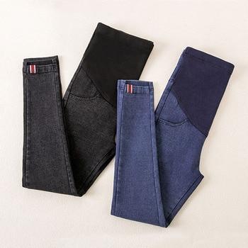 0a2c115c0 Denim Jeans pantalones de maternidad para las mujeres embarazadas ropa de  enfermería embarazo polainas pantalones Gravidas Jeans ropa de maternidad