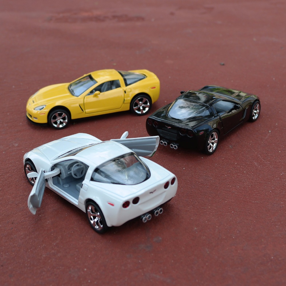 1 32 scale chevrolet corvette c7 concept alloy diecast car model pull back toy car
