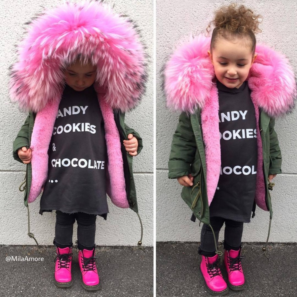 3dd284eefb94 Girls winter coats 2018 toddler girl winter clothes removable hooded ...