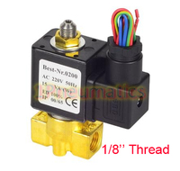 Free Shipping Thread 1/8'' 3 Way Valve High Quality Mini Water Solenoid Valve 1PC VX2320 06 DC12V