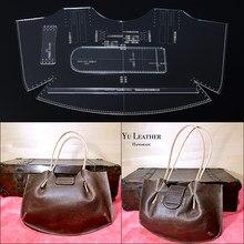4740f2976406 Ручная работа кожаный дизайн DIY кожаная сумка дизайн шаблон Одиночная сумка  на плечо сумка акриловая версия шаблон формы 46,5*2.