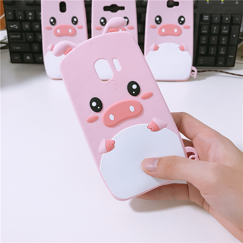 Cute Fashion Cartoon Pig Case For Samsung Galaxy J4 J5 J6 J7 2016 2017 2018 A6 J2 Prime Pro Cases Porket Soft Silicone Cover image