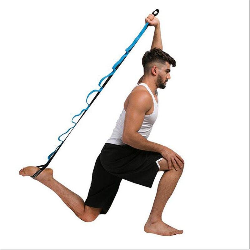 Несколько петель стрейч ремень стрейч группы, чтобы улучшить гибкость Йога Ремень Упражнения и ЛФК ремень для реабилитации гимнастическое