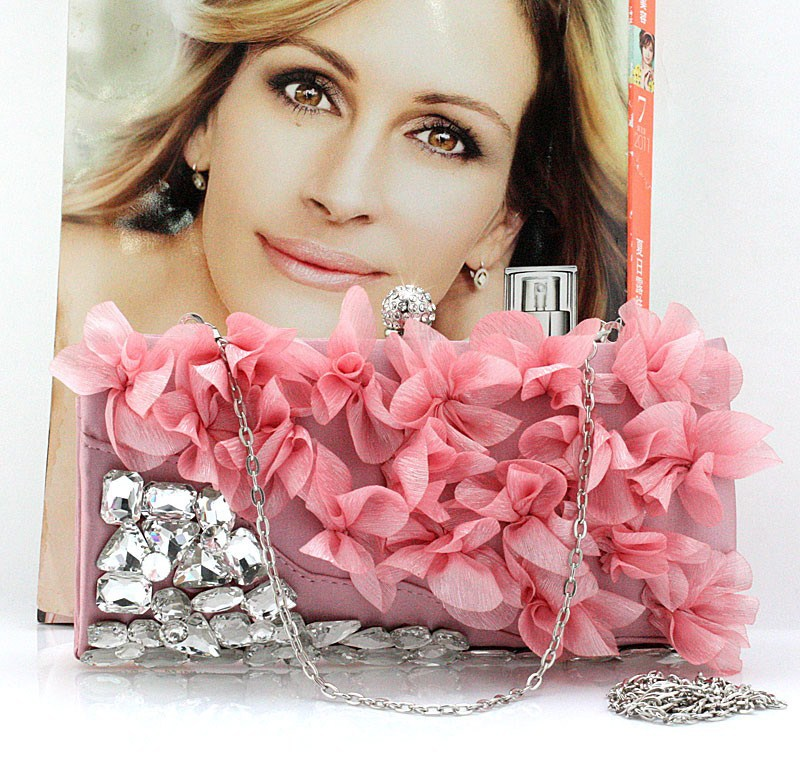 De alta Calidad de Flores de diamantes de Imitación de Las Mujeres Bolsos de Noc