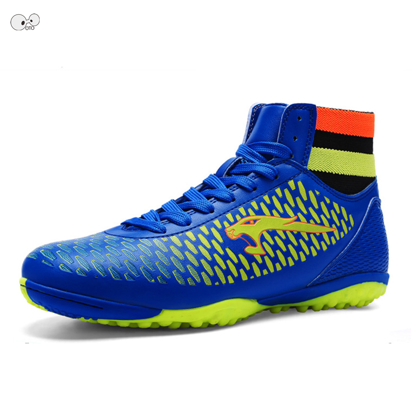 35 46 High Ankle Professional Mens Turf Soccer Boots Teens IN Football Shoes Indoor Hard Court Futsal Cleats Training Sneakers