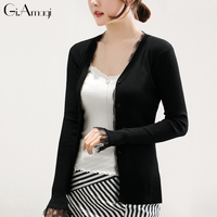Spring Summer New Lace Long Sleeved Sweater Cardigan Large Size Ice Silk Sunscreen Clothes Thin Girl