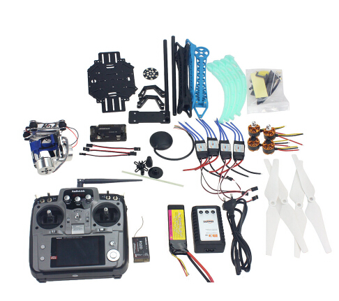 Full Kit RC Drone Quadrocopter 4-axis Aircraft Kit 500mm Multi-Rotor Air Frame 6M GPS APM Flight Control 2axis Gimbal F08151-J f15843 j k l 4 aix helicopter accessories kit with apm 2 8 gps for 450 4 aix rc drone quadcopter hexacopter multi rotor aircraft