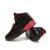 2016 Plus Size 39-45 Homens Sapatos Casuais de Alta Top de Malha respirável Air Esporte Cesta Femme Sapatos de Caminhada Masculino Estrela Vermelha formadores