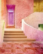 Розовый дом фон для фотосъемки реквизит фотостудии 5x7ft