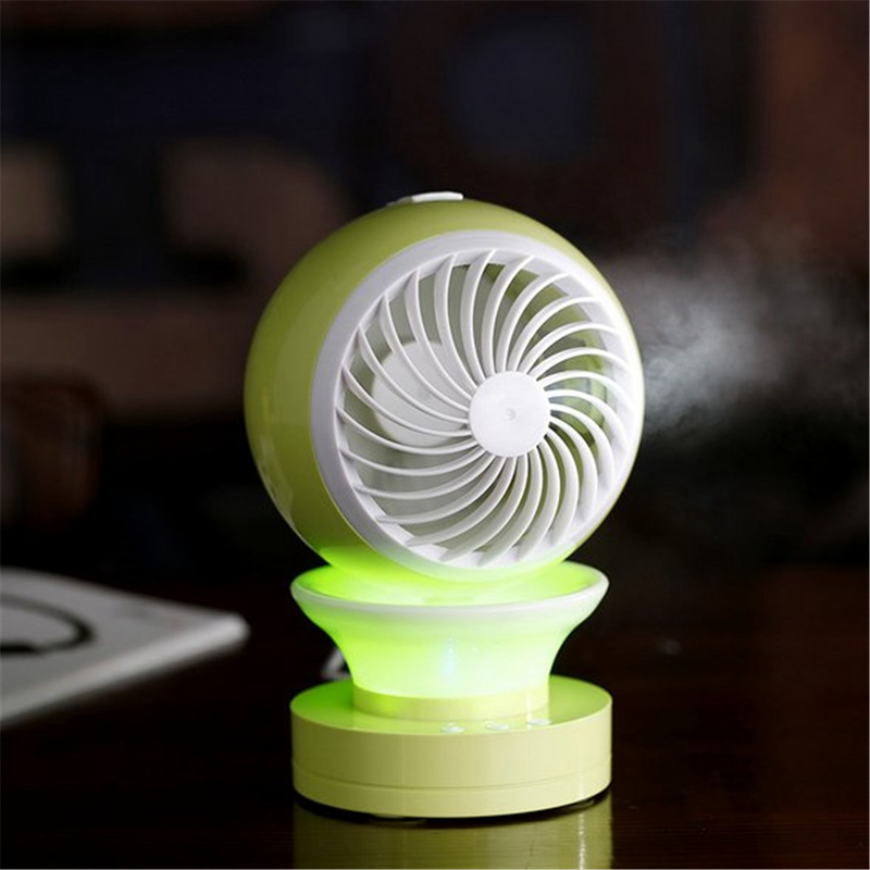 Mini Portable Air Conditioning Fan USB Mist Spray Home Office Cooling Humidifier New USB font b