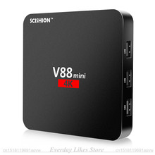 Оригинал SCISHION V88 Мини TV Box RK3229 4 Ядра Android 6.0 1 ГБ & 8 ГБ Телеприставки H.264, H.265 3D Игры Видео Set Top Box Tv tvbox