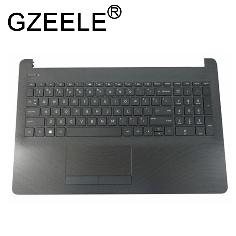 GZEELE New For HP Pavilion 15-BS 15-BW 250 G6 255 G6 15T-BS Palmrest Assembly Upper Case Keyboard Bezel English US AM204000100