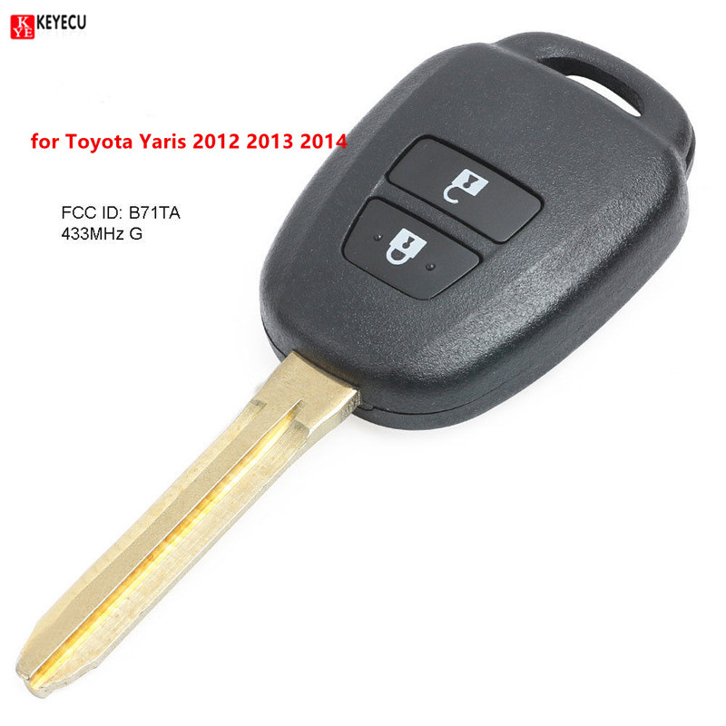 2 Shell Case For 2011 2012 2013 2014 2015 2016 Ford Fiesta Entry Remote Key Fob