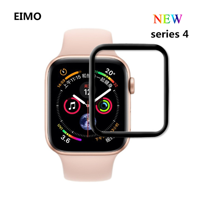 buy online 37515 8bfbf US $3.21 45% OFF EIMO Full Cover Tempered Glass For Apple Watch band Series  4 40mm 44mm Screen Protector iwatch 3/2/1 42mm 38mm 3D curved-in ...
