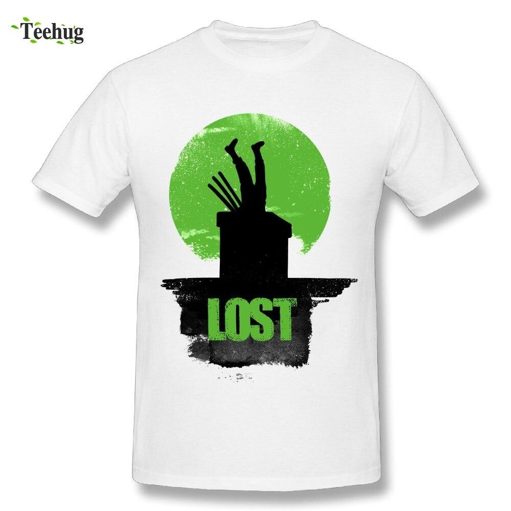 Funny Male Lost Roronoa Zoro T Shirt Fashion Anime One Piece Custom Cotton T-Shirt