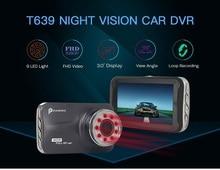 T639 Видеорегистраторы для автомобилей FHD 1080 P 3 дюймов регистраторы автомобиля Камера Ночное видение с 9 ИК свет Ночное Видение G-Сенсор 170 градусов автомобиля рекордер