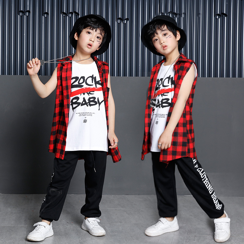 New Korean Fashion Children Men Hip Hop Jazz Dance Costumes for Boys Kids Hiphop Street Dance Three Piece Suits Clothes-in Ballroom from Novelty ...