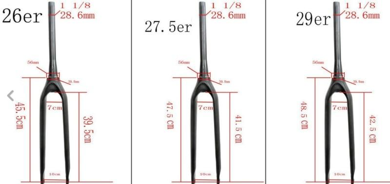 carbono total garfo de bicicleta de estrada/carbono garfo de bicicleta de estrada garfos1-1/2 carbon MTB fork 26er/27.5er/29er цена