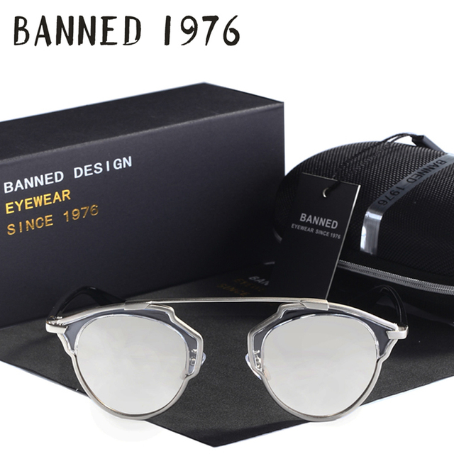aliexpress high quality designer women cat eye Sunglasses real uv400 feminin BANNED brand oculos sun Glasses with original box