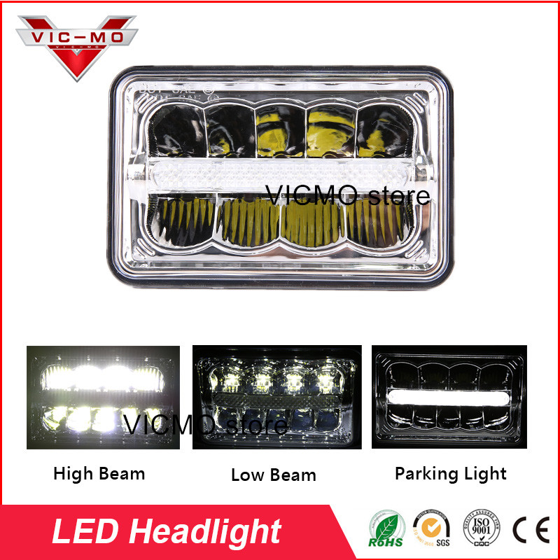 New Arrival DOT Approved HeadLamp Square 4x6 Led Work Hi/Lo beam Light For Ford Mustang Peterbilt Kenworth FREIGHTLINER Truck car light 4x6 inch rectangular led work light drl hi lo beam headlight for peterbilt freightliner truck 4pcs set