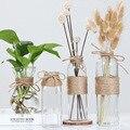 Скандинавские стеклянные вазы для гостиной  украшения стола  прозрачная водная гидропоника  Цветочная веревка  сухая Цветочная ваза  сдела...