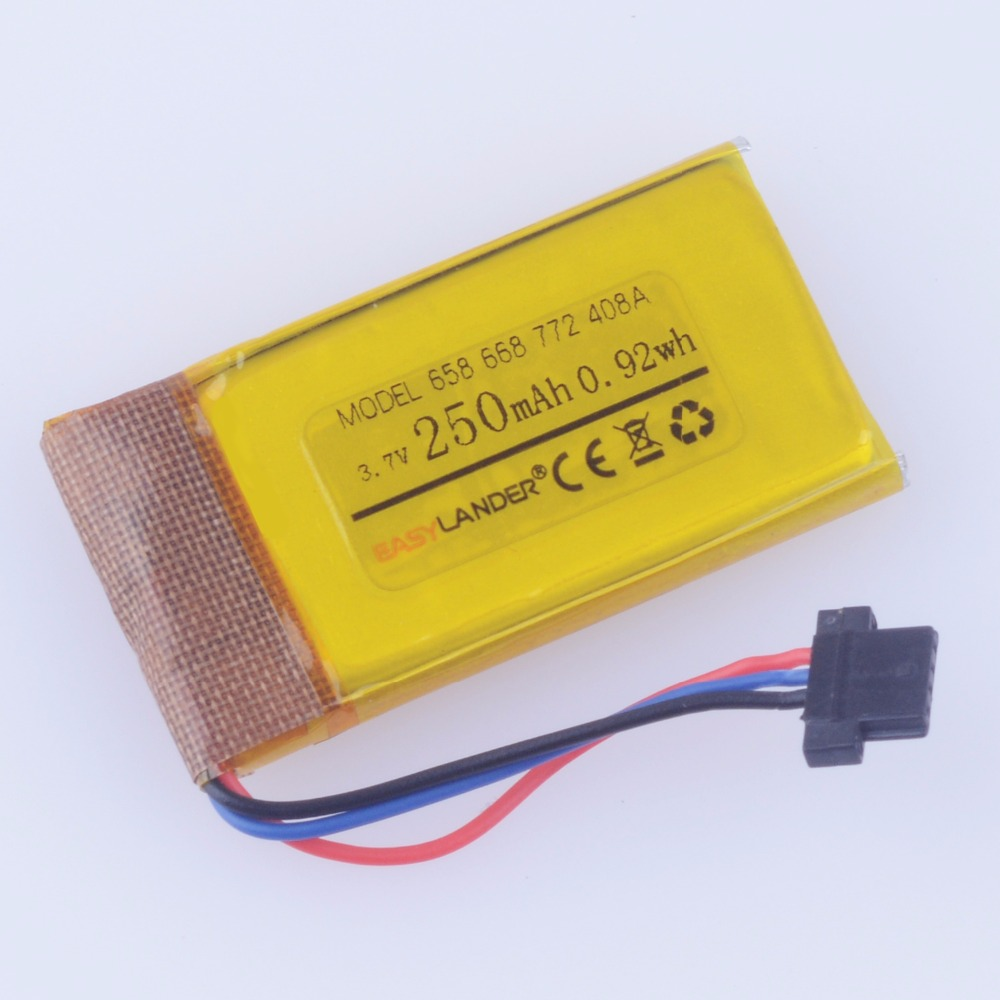 Driving recorder 3 7V 250mAh Rechargeable li Polymer battery For DVR MIO mivue 368A 526