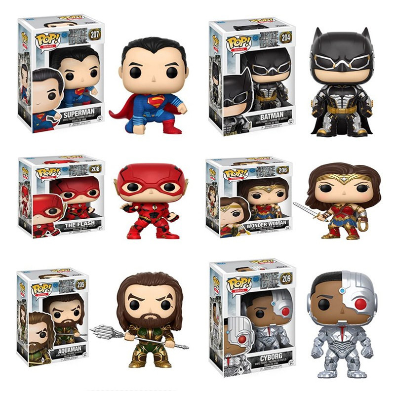 Funko POP Justice League Aquaman & Batman Super Hero Wonder women PVC Action Figure toys birthday Gift for the children