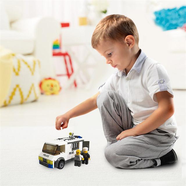 DIY Prison Car Building Blocks Kits