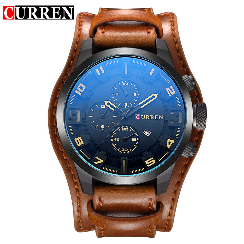 Curren 8225 Mens Watches Top Brand Luxury Leather Military Sport Men Quartz Watch Waterproof Male Wristwatches Relogio Masculino 2017 curren mens watches top brand luxury military wrist watch men sport clock male leather strap quartz watch relogio masculino